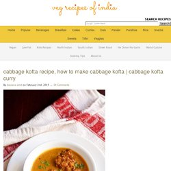 cabbage kofta recipe, how to make cabbage kofta