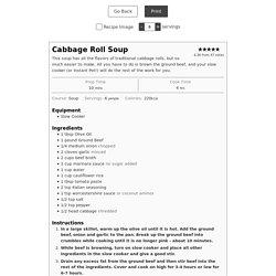 Cabbage Roll Soup - Keto Karma