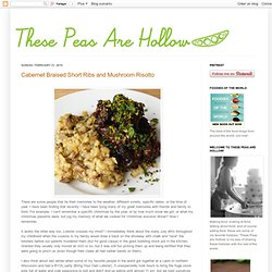 Cabernet Braised Short Ribs and Mushroom Risotto