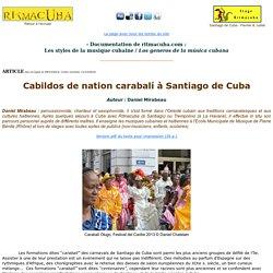 Cabildos de nation carabali a Santiago de Cuba