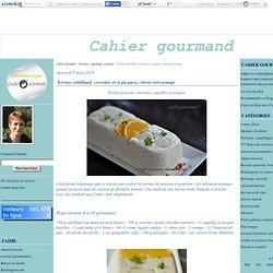 Terrine cabillaud, crevettes et st jacques, citron vert-orange - Cahier gourmand