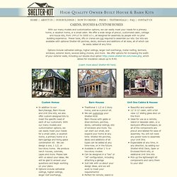 Cabin & House Kits for Owner-Builders from Shelter-Kit®