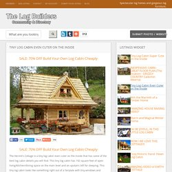 Tiny Log Cabin Even Cuter on the Inside « Country Living