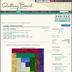 Log Cabin variations - Blogs - Quilting Board