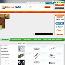 Cabinet Drawer Slides, Glides, Hinges, & Hardware | DrawerSlides