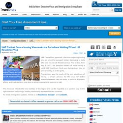 UAE Cabinet favors issuing Visa-on-Arrival for Indians Holding EU and UK Residence Visa