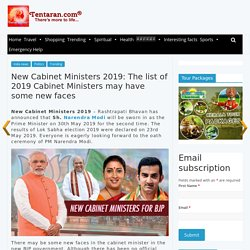 list of 2019 Cabinet Ministers