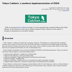 Tokyo Cabinet: a modern implementation of DBM