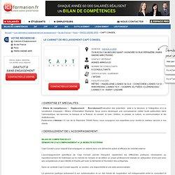 Le Cabinet d'Outplacement CAPT CONSEIL - PARIS 08EME ARR sur ICI Formation