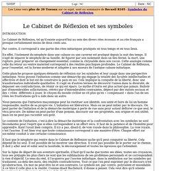 3012-7 : Le Cabinet de Réflexion et ses symboles