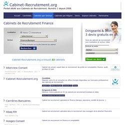 Cabinets de recrutement Finance