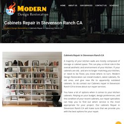Cabinets Repair in Stevenson Ranch CA - Modern Design Restoration