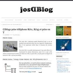 Câblage prise téléphone RJ11, RJ45 et prise en T » josDBlog