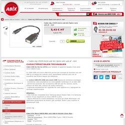 Cable otg 15CM micro usb bm 5pins vers usb af - noir