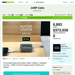 JUMP - The Smartphone Charger That Charges Itself by Native Union