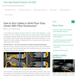 How to Run Cables in Multi-Floor Data Center With Fiber Enclosures?