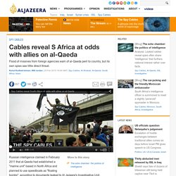 Cables reveal S Africa at odds with allies on al-Qaeda