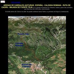 Arenas de Cabrales (Asturias), calzada romana, Fuente Teja