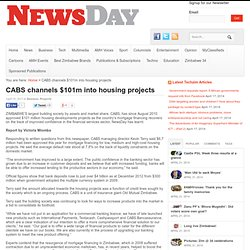 CABS channels $101m into housing projects