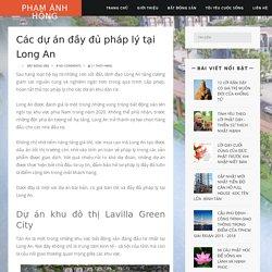 Các dự án đầy đủ pháp lý tại Long An