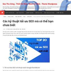 Seo Thủ Công - Thiết Kế Web - Quản Trị Web - Theme Wordpress
