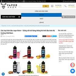 Các loại tinh dầu vape thơm – Sửng sốt với bảng thông kê tinh dầu trên thị trường Việt Nam