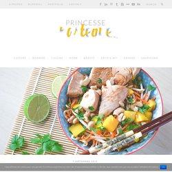 Salade thaï // Mangue, carotte, soja et cacahuètes