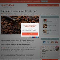Raw cacao vs cocoa: what's the difference?