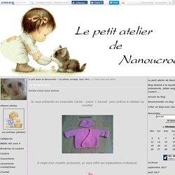 Cache-coeur pour préma - Le petit atelier de Nanoucrochet
