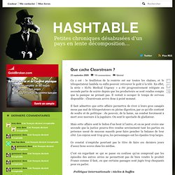 Que cache Clearstream ?