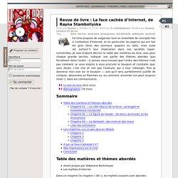 Revue de livre : La face cachée d'Internet, de Rayna Stamboliyska
