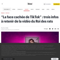 """""""La face cachée de TikTok"""" : trois infos à retenir de la vidéo du Roi des rats - Enfants"""