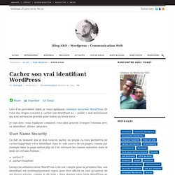 Cacher son vrai identifiant Wordpress