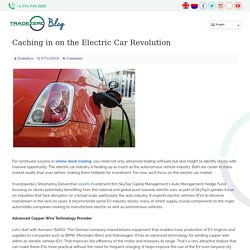 Caching in on the Electric Car Revolution