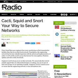 Cacti, Squid and Snort Your Way to Secure Networks