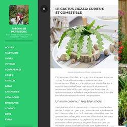 Le cactus zigzag: curieux et comestible