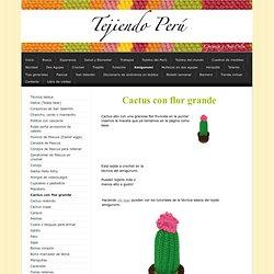 Cactus con flor grande