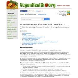Lo que cada vegano debe saber de la vitamina B-12