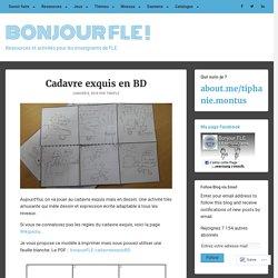 Cadavre exquis en BD – Bonjour FLE !