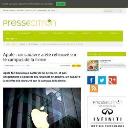 Apple : un cadavre a été retrouvé sur le campus de la firme