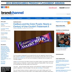 Cadbury and the Color Purple: Nearly a Century of Use Couldn't Trademark It