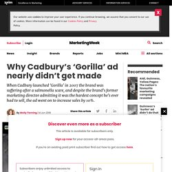 Why Cadbury's 'Gorilla' ad nearly didn't get made