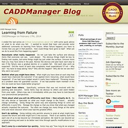 Blog — Practical, proven insight into CADD Management from Mark W. Kiker