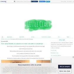 Petits cadeaux pour Noël: des charlottes de cuisine! ultra simple et ultra pratique. - Little Clary