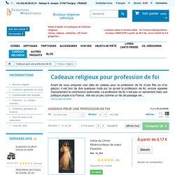Cadeaux pour profession de foi : croix religieuses et icones