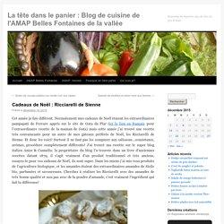 La tête dans le panier : Blog de cuisine de l'AMAP Belles Fontaines de la vallée
