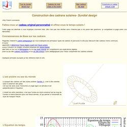 Cadran solaire - construction