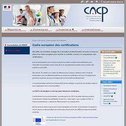 Cadre européen des certifications