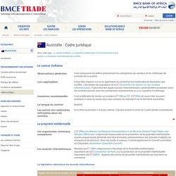 Cadre juridique en Australie