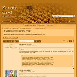 Cadres ou Barettes ? - Page 2 - La ruche Warré